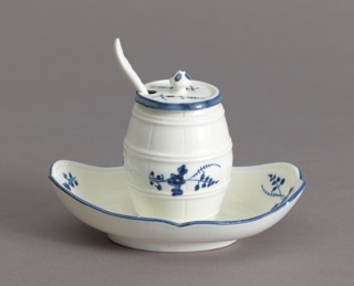 Mustard Pot with Stand and Spoon (Moutardier à Plateau; Cuillère à Moutarde) Mustard Pot And Spoon