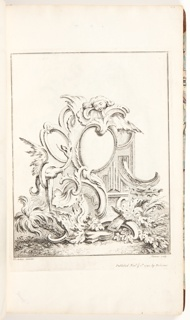 Bound Volume, Frontispiece for Book 4, in Eight books of Ornament