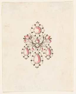 Drawing, Design for a brooch, ca. 1770
