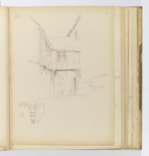 Album Page, Sketch of House, Blois