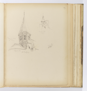 Album Page, Architectural Elements, Poissy
