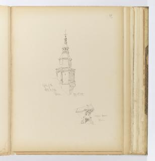 Album Page, Architectural Details, Reims