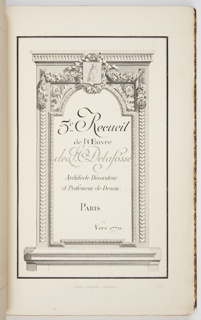Print, Album of Interior Decoration, 1770