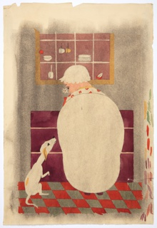 Drawing, Old Mother Hubbard