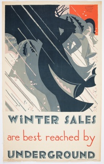 Poster, Winter Sales Are Best Reached by Underground