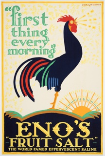 """Poster, """"First Thing Every Morning,"""" Eno's """"Fruit Salt"""""""