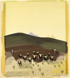 Painting, Montana, from the United States series