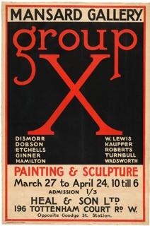 Poster, Group X, Mansard Gallery