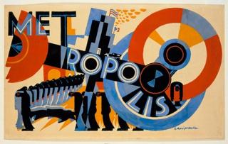 Drawing, Poster Design for Metropolis by Fritz Lang, 1926
