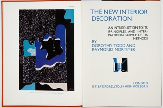Book, The New Interior Decoration: An Introduction to Its Principles, and International Survey of Its Methods