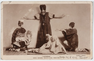 Postcard, Lazarus, performed by the Arts League of Service