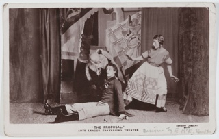 Postcard, The Proposal, performed by the Arts League of Service