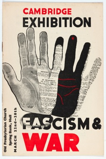Brochure, Cambridge Exhibition, Fascism & War