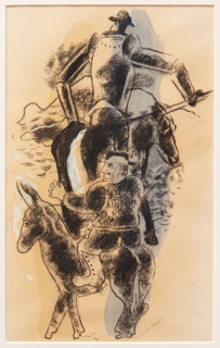 Drawing, Study for Don Quixote