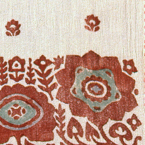 Three wood blocks used to print the patterns on 1977-77-1, 2, 3.