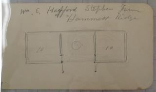Verso: diagram of cabin