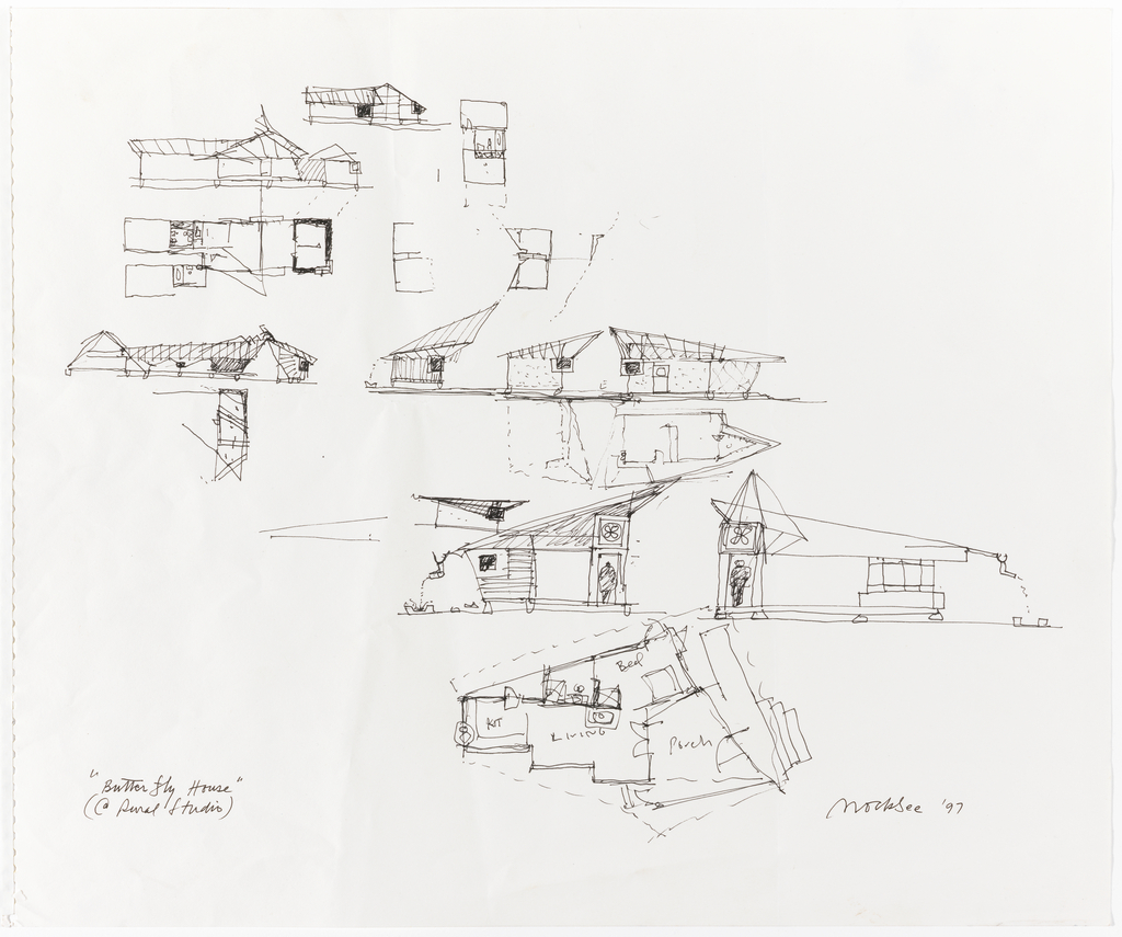 Drawing Butterfly House Auburn AL Concept Sketches 1997