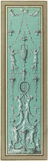 Drawing, Panel of Arabesques for the Hôtel de Salm, Paris