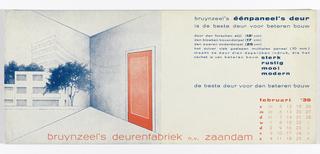 Blotter, Bruynzeel's éépaneel's deur, februari 1939