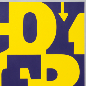 Large, bold, yellow letters cover entire poster from upper left to lower right. Text reads: McCOY / TYNER / SEXTET / WILLISAU / 3 APRIL 20h / MOHREN