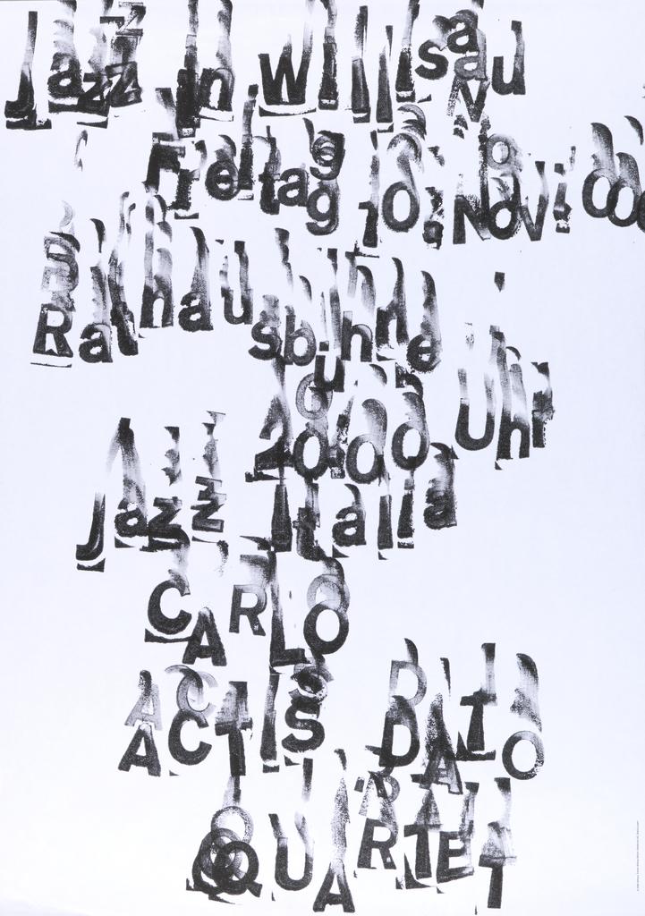 Poster, Carlos Actis Dato Quartet
