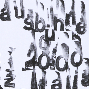 """White poster with messy black text layered over itself multiple times from top left to bottom center. Text reads: """"Jazz in Willisau,Freitag 10, Nov. 2000, Rathaus bühne, 20.00, Jazz Italia, Carlo Actis Dato Quartet."""""""