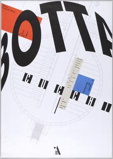 Printed in black on image:  Botta Cucchi/Museo/Cantanale d'Arte/ via/Canova 10/Lugano/ /La Cappelle/del/MonteTamaro/Mercoledi/Giovedi/Venerdi/Sabato/Domenica/ +/31 Ottobre/1 /Novembre/10-17/ Martedi/14-17/Lunedi /Chiuso/8/Ottobre/ 6/Novembre/ 1994