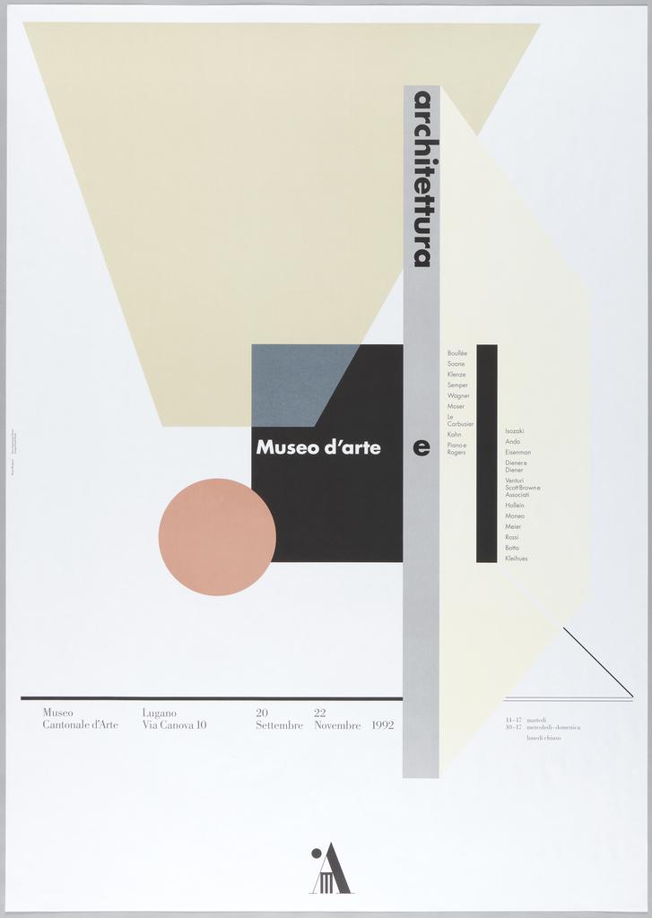 Poster, Museo d'Arte e Archittectura