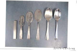 "Ingots to finished ""Hanovarian"" dessert spoon"