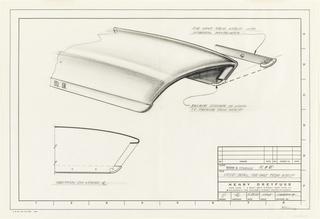 Drawing, Hood detail, cast front, for John Deere