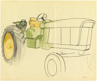Drawing, Sketch of Tractor, for John Deere