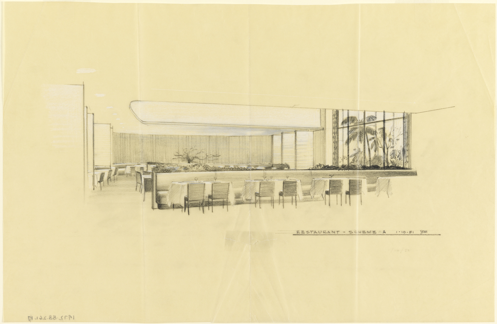 Design for the dining area of restaurant