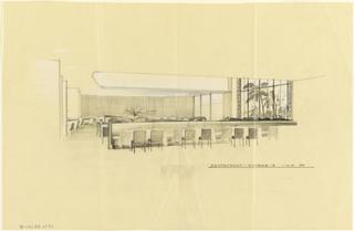 Drawing, Restaurant, Scheme A, for Uris Hotels