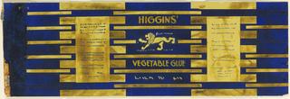 Drawing, Product Label for Higgins' Vegetable Glue