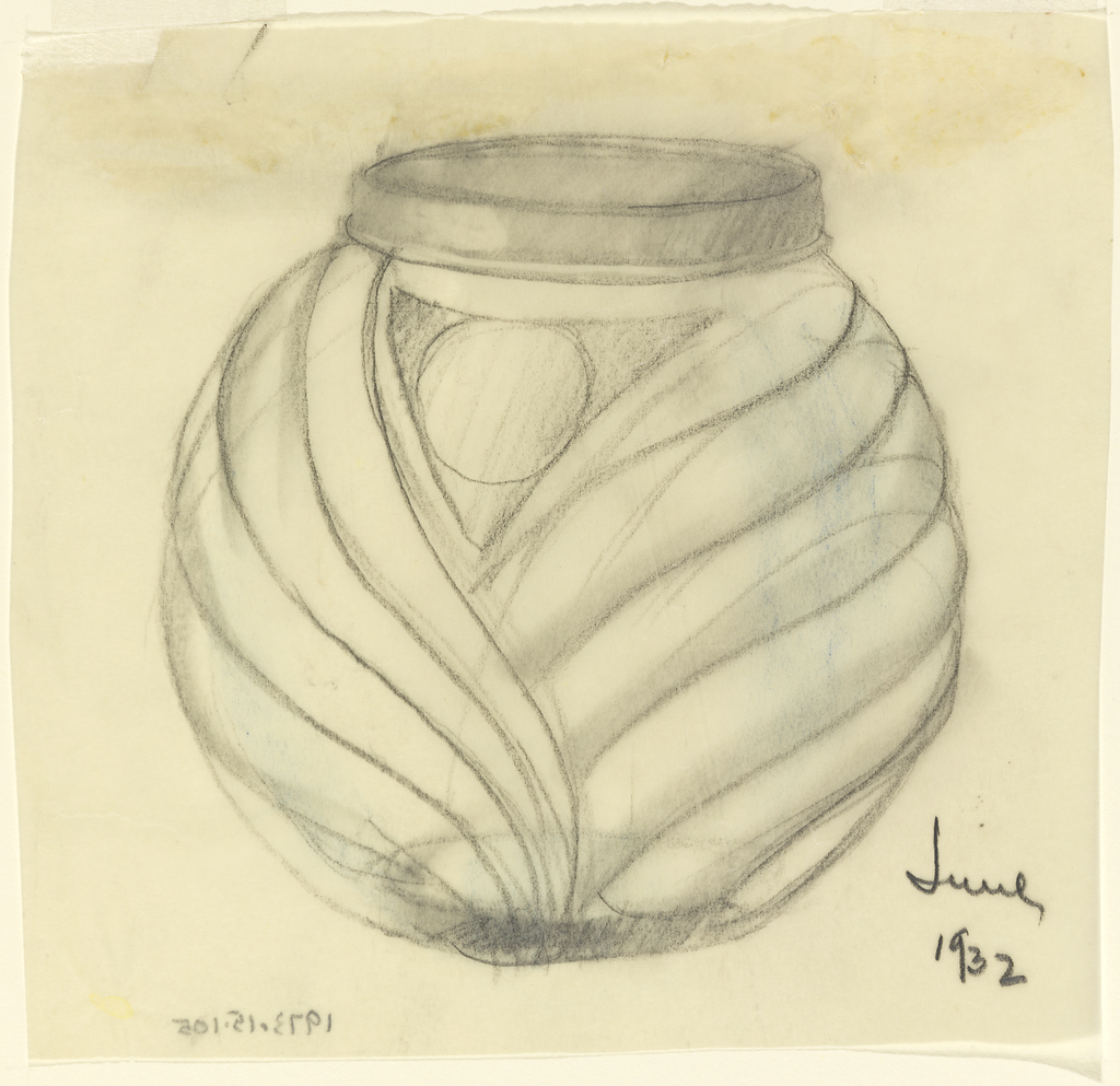 Jar decorated with overlapping folds (turban-like).