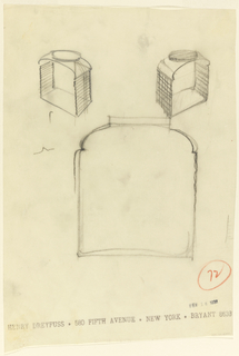 Drawing, Three Views of a Toast-Sided Jar, Capstan Glass Co.
