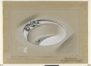 Design for round sink.