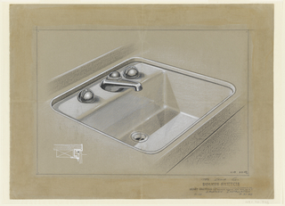 Drawing, Design for Lavatory Installation with Sink