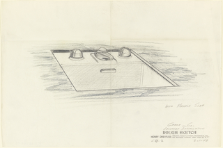 Drawing, Lavatory Installation: Sink with Marble Slap for Crane Co.