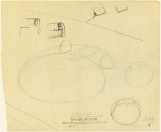 Sketches for several different sink designs with cross sections.