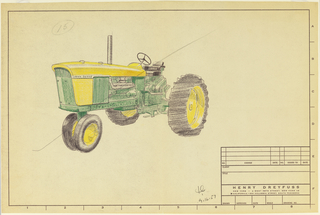 Drawing, Tractor, for John Deere
