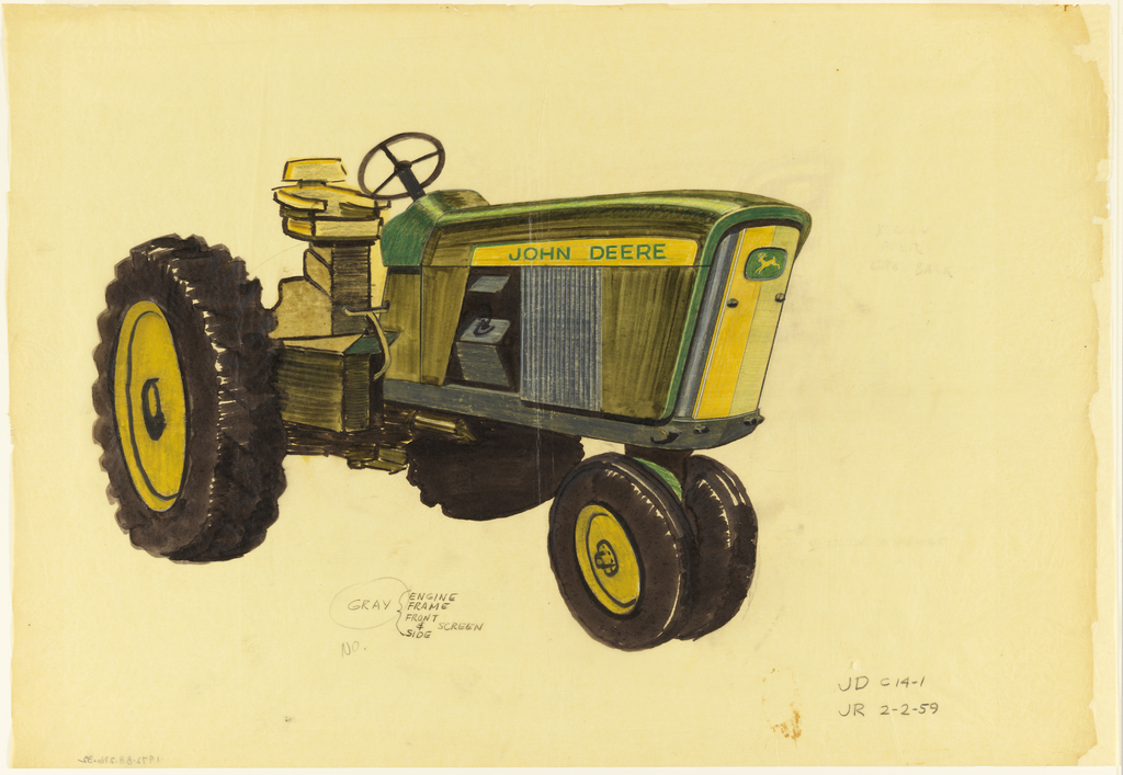 Drawing, Design for a Tractor, February 2, 1959