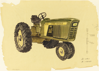Drawing, Tractor, Model 720, front and side screens, for John Deere