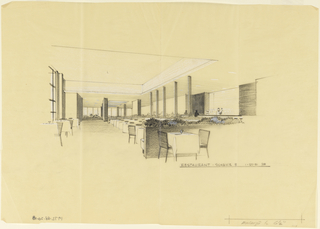 Design for interior of restaurant.