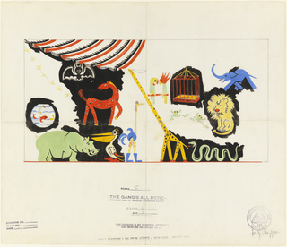 """Drawing, Study for Stage Set, """"The Gang's All Here"""", Act 1, Scene 1"""