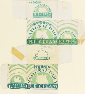 Drawing, Product Label for Ice Cream