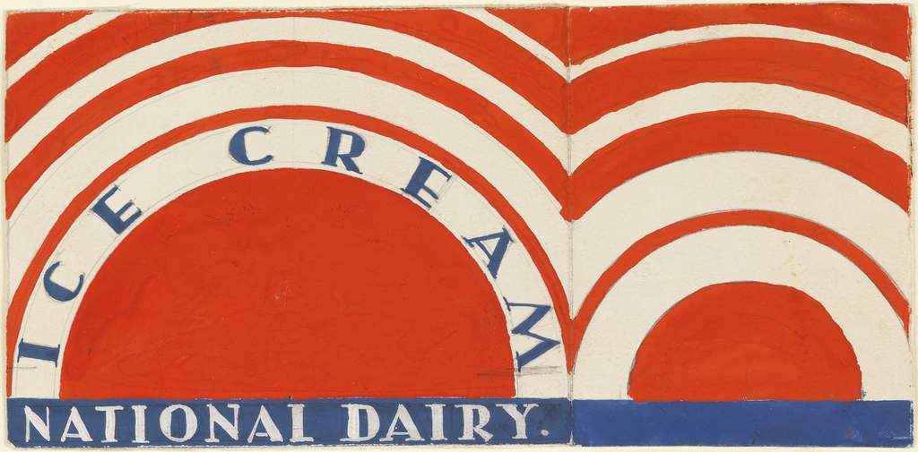Product label for National Dairy Ice Cream.