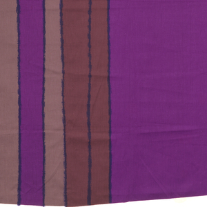 Large-scale design of a series of lines seeming to make a big loop, which edges slightly off the fabric. In shades of purple.