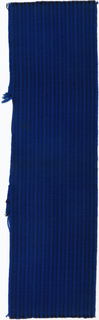 Narrow vertical stripe in royal, cobalt blue and black stripe colorway.