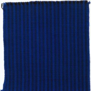 Narrow vertical stripe in royal, cobalt blue and black stripe colorway.